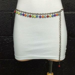 New Colorful Bead Chain Belt